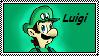 Luigi stamp by Kincello