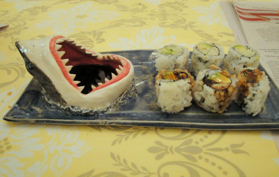 Shark Sushi Plate 2 by aviceramics