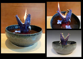 Fire Breathing Dragon Bowl by aviceramics