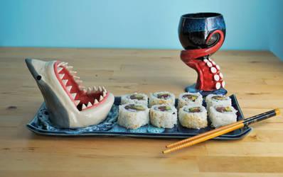 Nautical Sushi Set