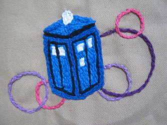 Embroidered TARDIS Version 2