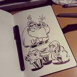 Sketch Bad santa