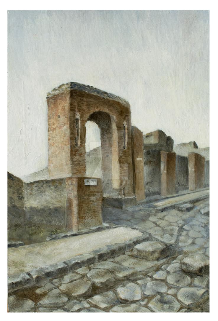 Arco di Caligola, Pompei (2018) by hanestetico