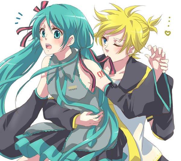 Miku Hatsune and Len Kagamine by LeLe-Miku on DeviantArt  Miku Hatsune an...