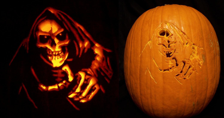 Grim reaper pumpkin by kamose on deviantart