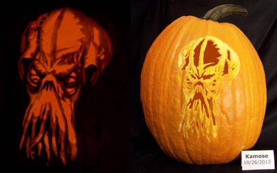Dread Cthulhu Pumpkin