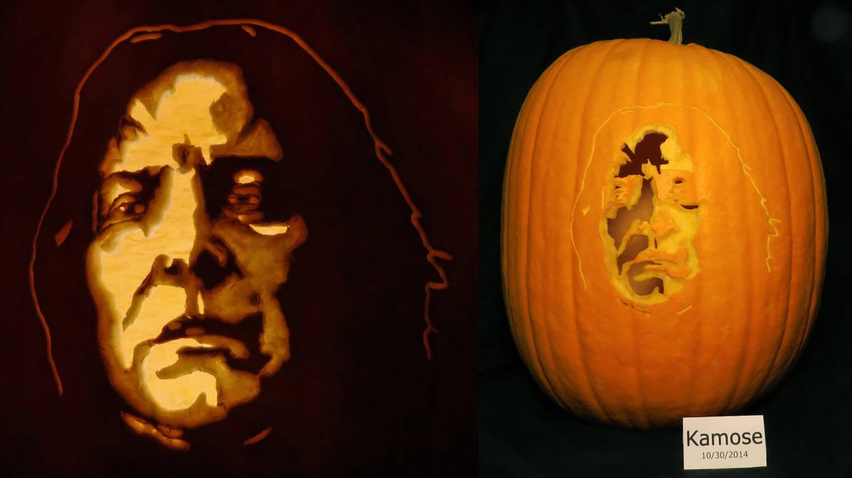 Severus Snape Pumpkin (From Harry Potter)