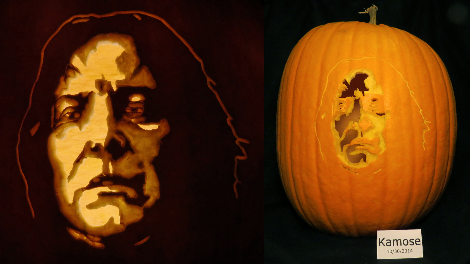Severus snape pumpkin from harry potter by kamose on for Harry potter pumpkin carving templates