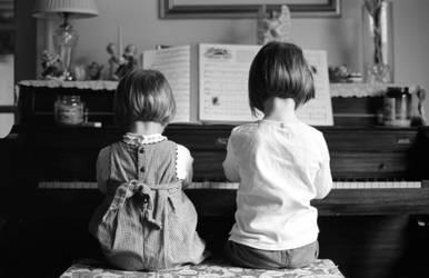 Girls at Piano by padraig13