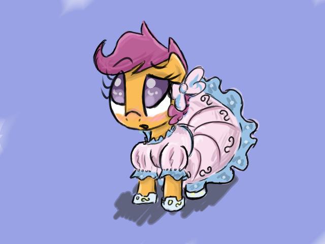 Scootaloo is a very pretty pony by ACharmingPony