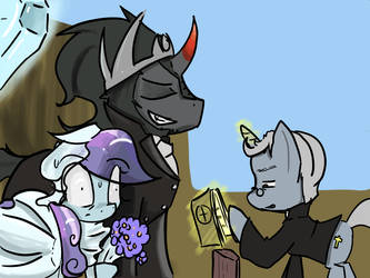 Sombra loves his bowl of Wheaties every morning by ACharmingPony