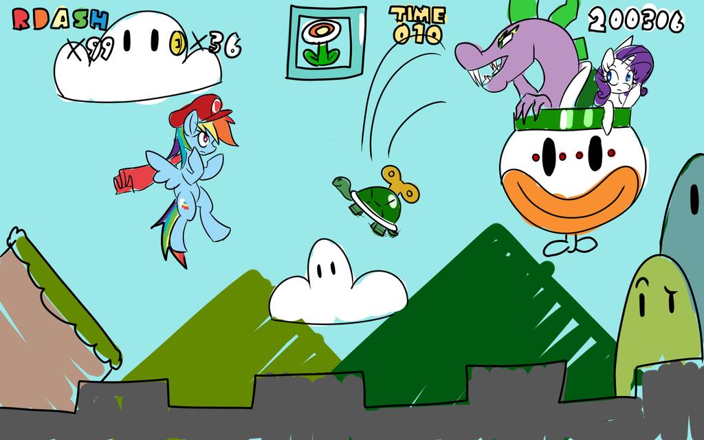 Mario X Pony Hour Challange by ACharmingPony