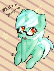 Lyra Its Pronounced Megane by ACharmingPony