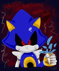 Happy 25th Birthday Metal Sonic! by vivicarol0200