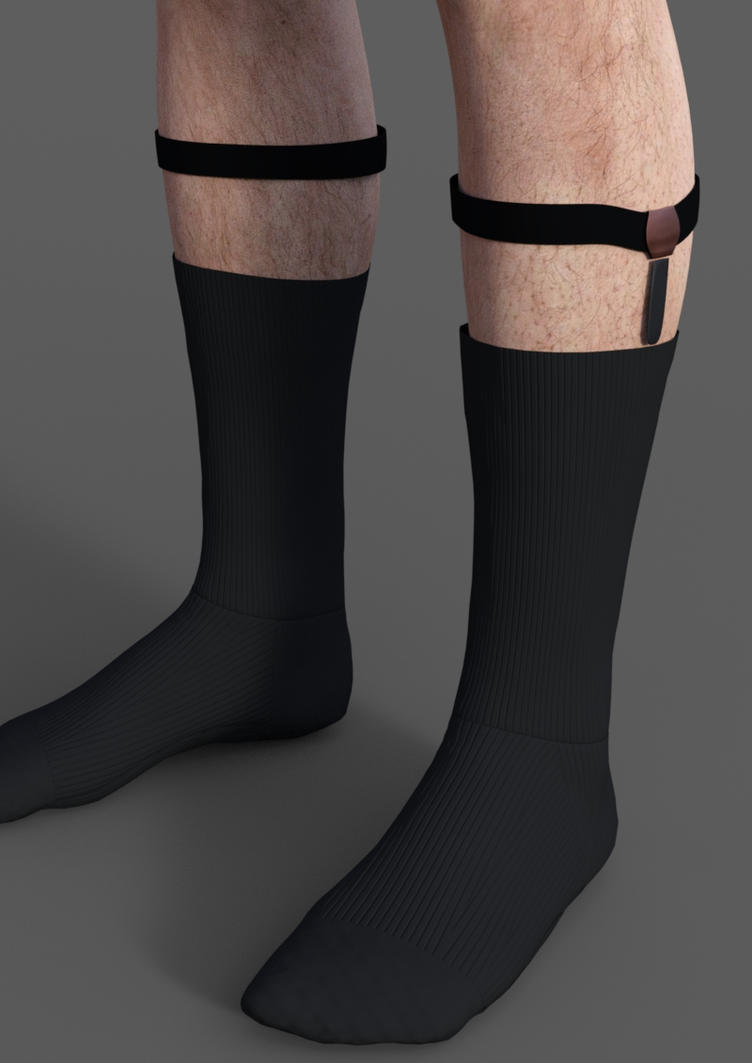 Double Grip Sock Suspenders or Garter for men. Keeps Socks From Falling Down On Your Leg. Two Garter Attachments for a extra firm hold.