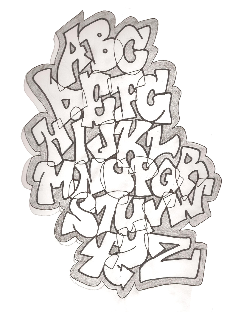 Easy Graffiti Styles Graffiti Alphabet vers...