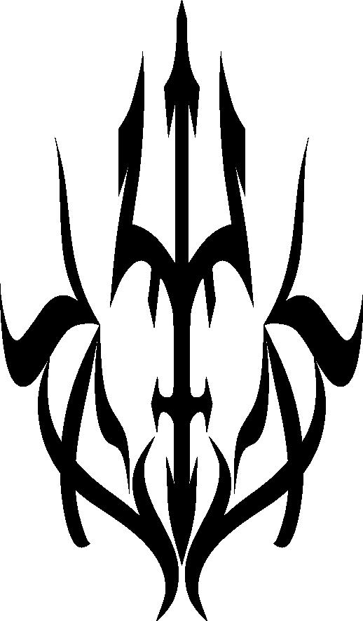 trident tribal symbol. Black Bedroom Furniture Sets. Home Design Ideas
