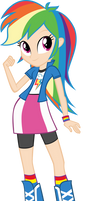 humanized EQ Rainbow Dash by Michaelsety