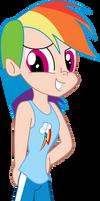 Here`s Rainbow Dash