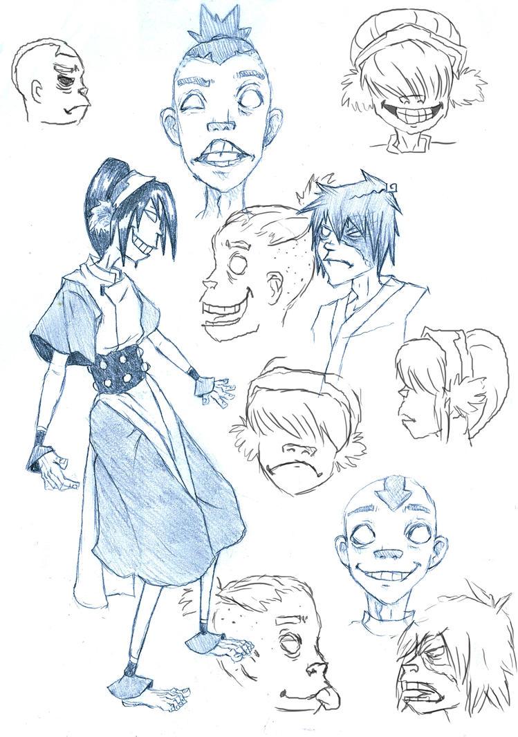 how to draw gorillaz style