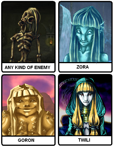 Zeldas response to x