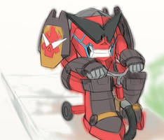 Gurren on his Tricycle