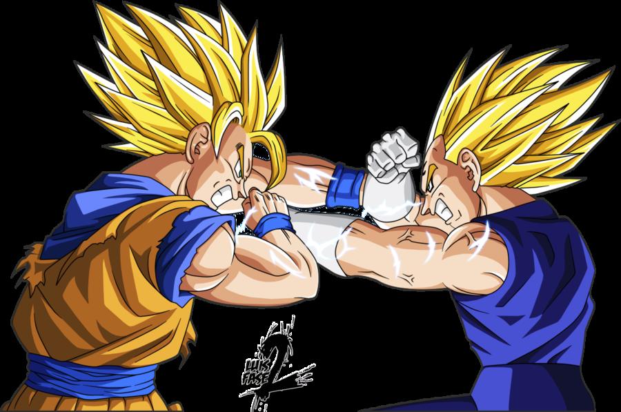 Majin Vegeta Vs Goku Wallpaper Render goku vs majin vegeta by