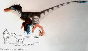Deinonychus antirrhopus by ZeWqt