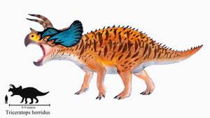 Triceratops horridus by ZeWqt