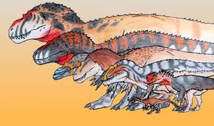 Tyrannosaurs, Tyrannosaurs everywhere!