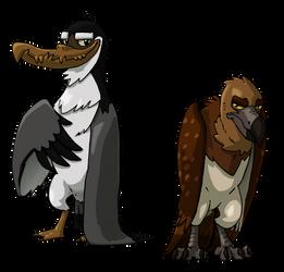 Two big birds by ZeWqt