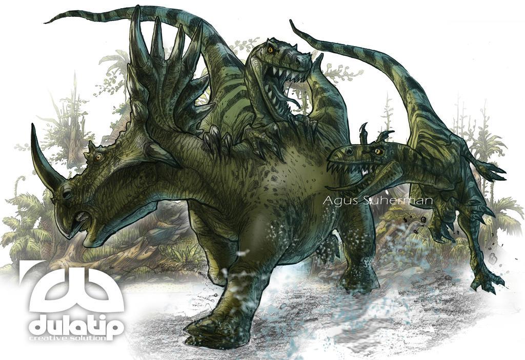 Styracosaurus vs triceratops