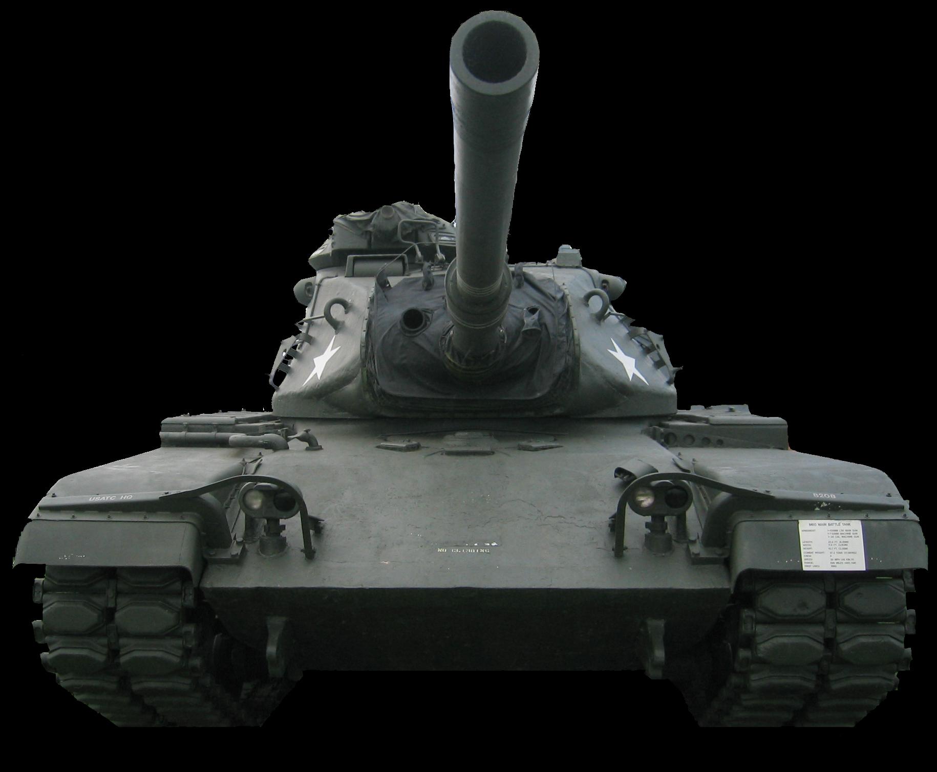 Tank on black