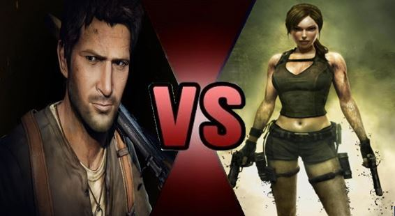 Lara Croft And Nathan Drake: Nathan Drake Vs Lara Croft By FEVG620 On DeviantArt