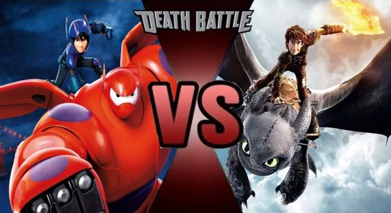 hiro and baymax vs hiccup toothless meet