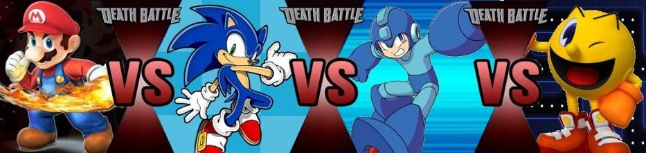 Mario Vs Sonic Vs Megaman Vs Pacman Every Match I Have Cla...