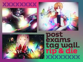 post exam tagwall