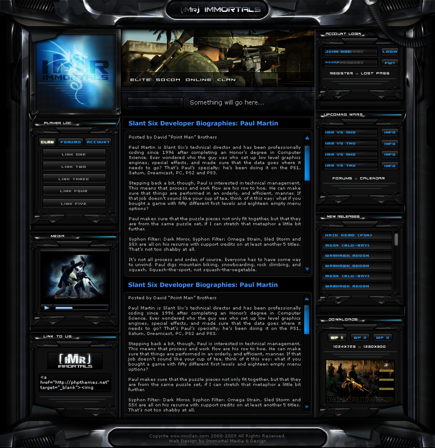 iMr Clan Site v3 WIP by ImmoRtalMedia