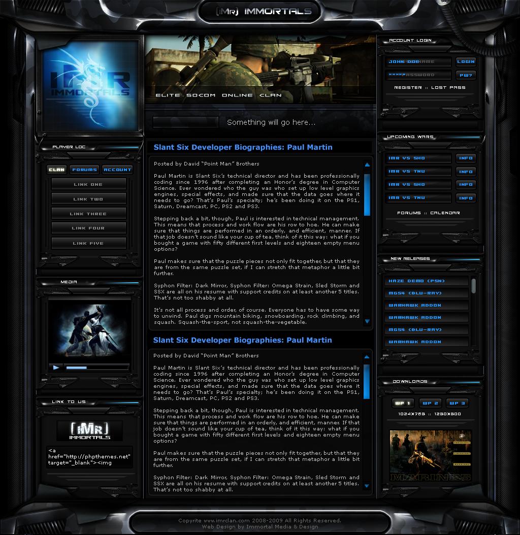 iMr Clan Site v3 WIP by ImmoRtalMedia