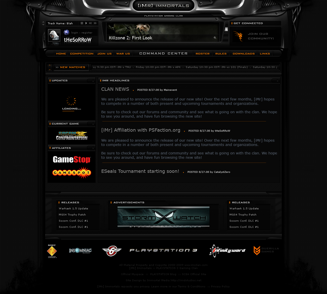 Gaming Clan Website Templates. 37 gaming website themes templates ...