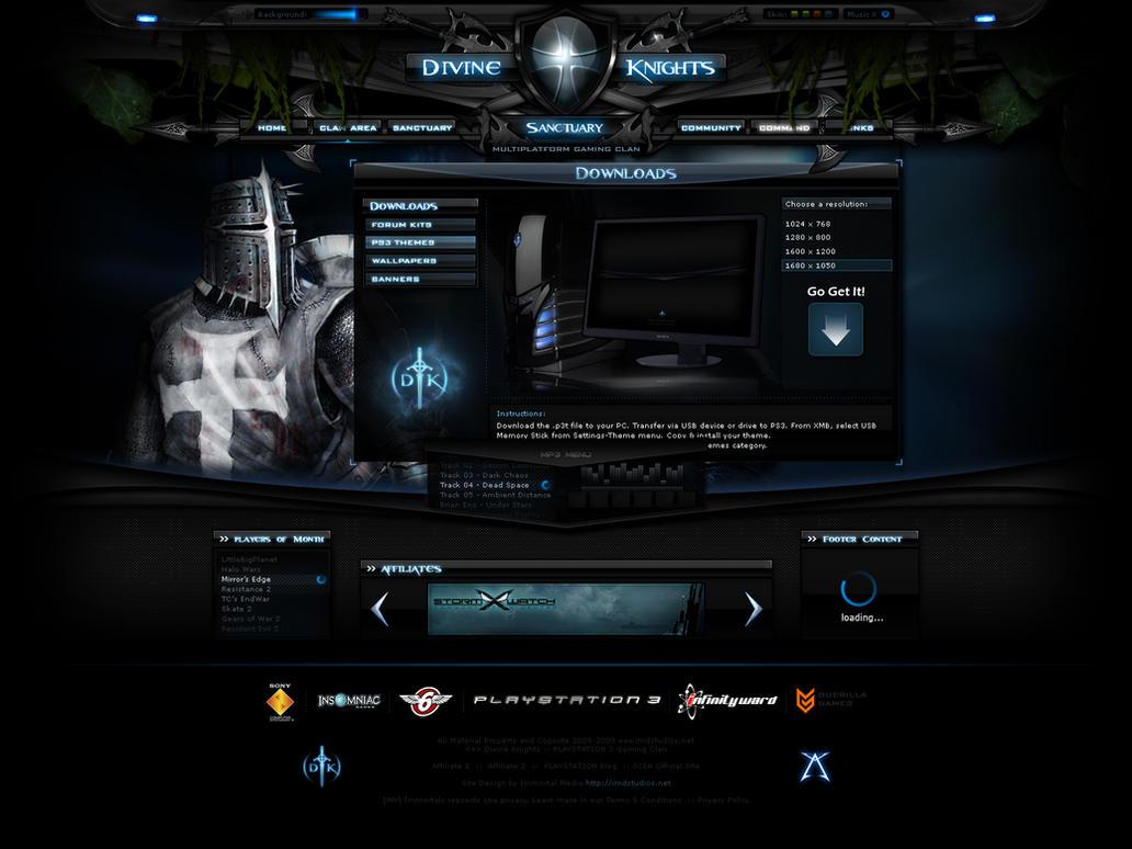 Divine Knights Flash Clan Site By ImmoRtalMedia On DeviantArt - Clan website templates