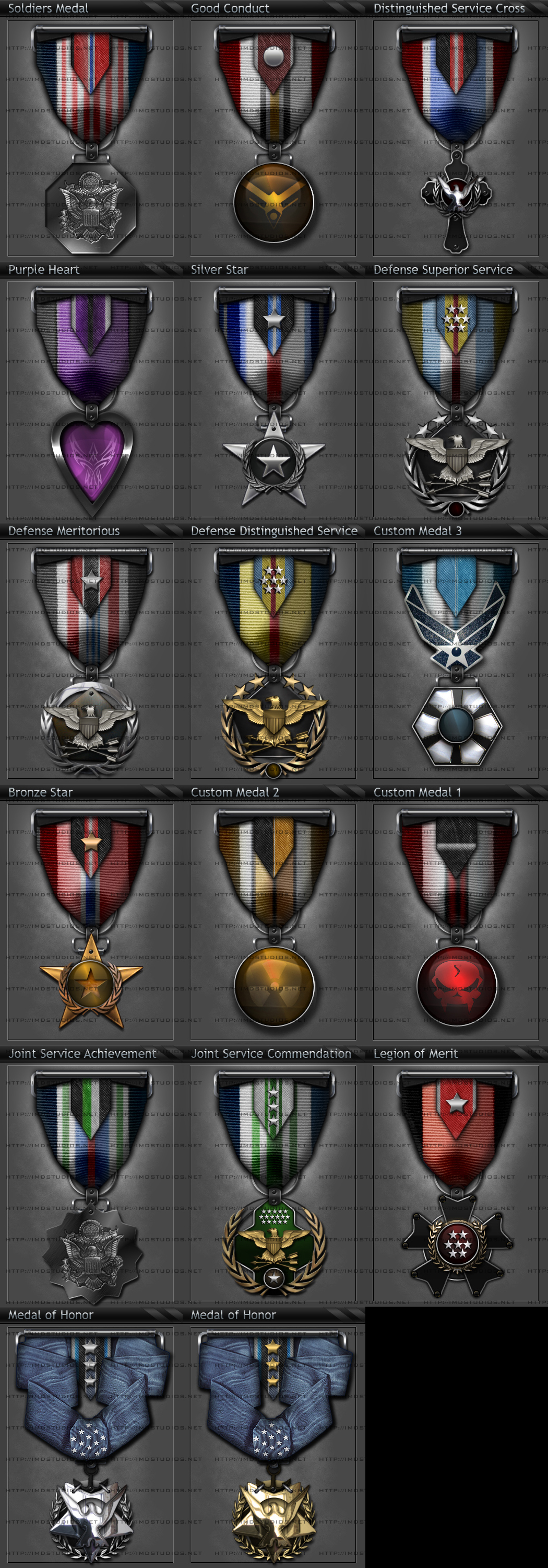 3D Gaming Clan Medal Set v3 by ImmoRtalMedia