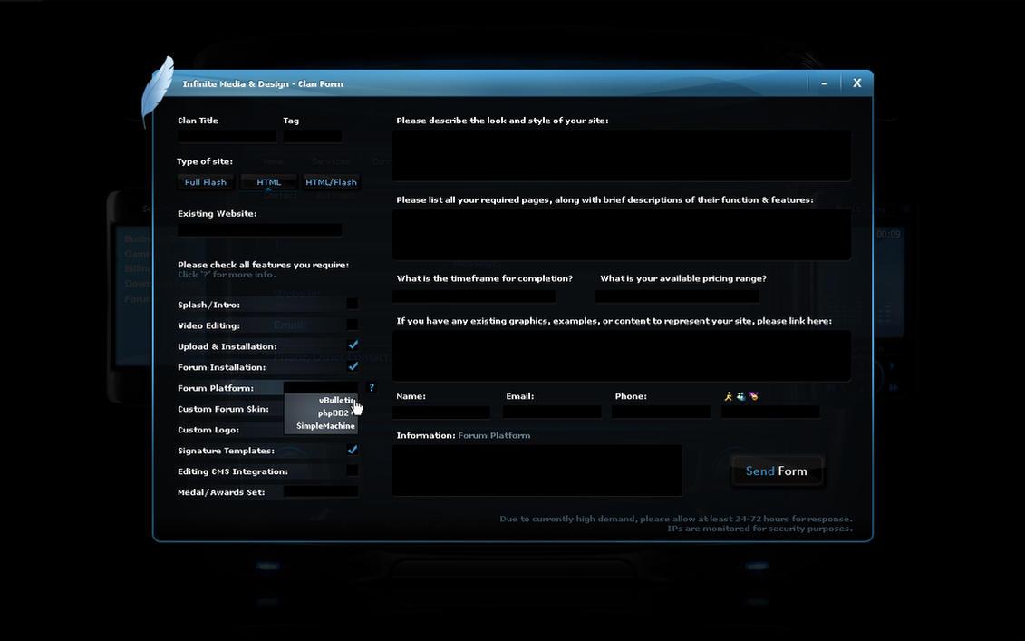IMD Flash Clan Form Layout by ImmoRtalMedia