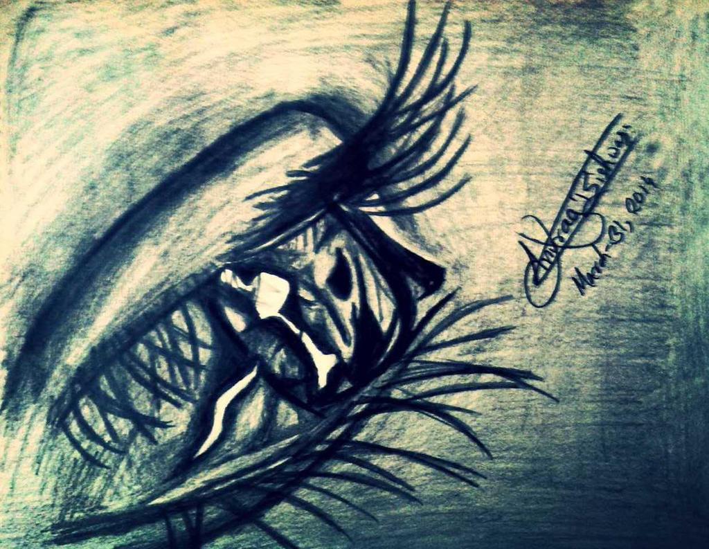Eye Sketch by anuragbishwas