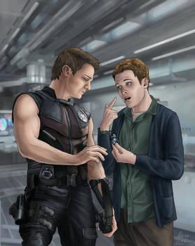 Clint Barton and Leo Fitz