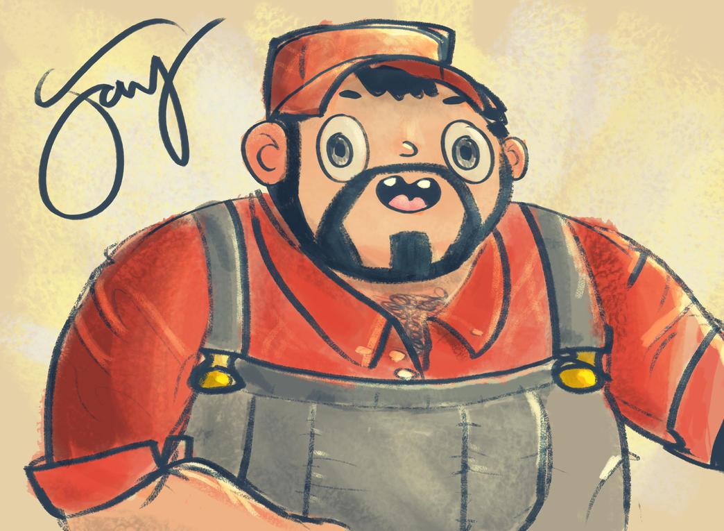 Trucker Sketch by jaypanchal
