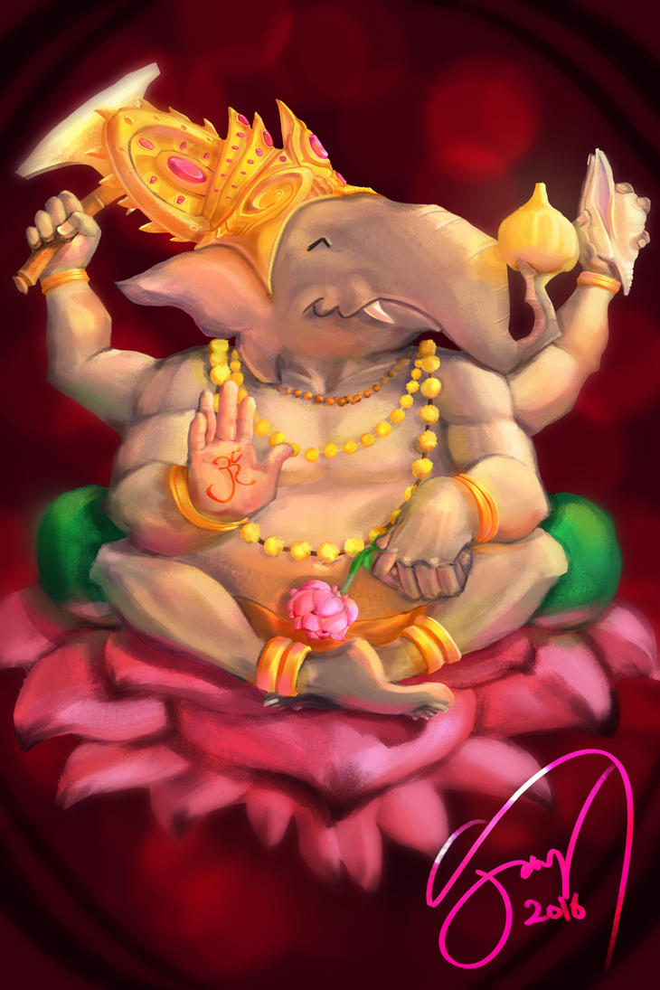 Ganesha Portrait by jaypanchal