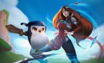Irelia and Pengu [ Riot Games Contest 2021 ] by lDannyE