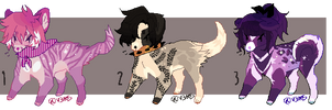 [AUCTION] CLOSED | Feral Dog Adoptables by Flaamez-Adopts