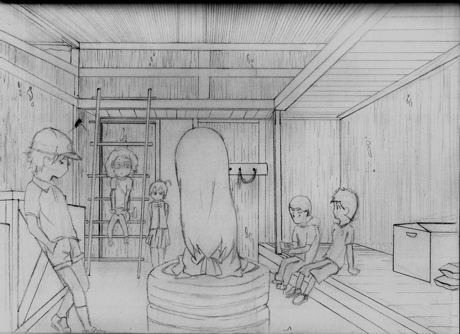 AnoHana  Secret Base by JinxYoung on deviantART
